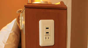 USB付きコンセント全室完備